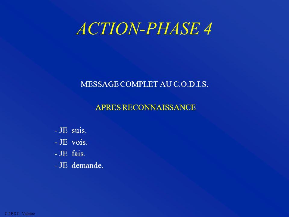 MESSAGE COMPLET AU C.O.D.I.S.