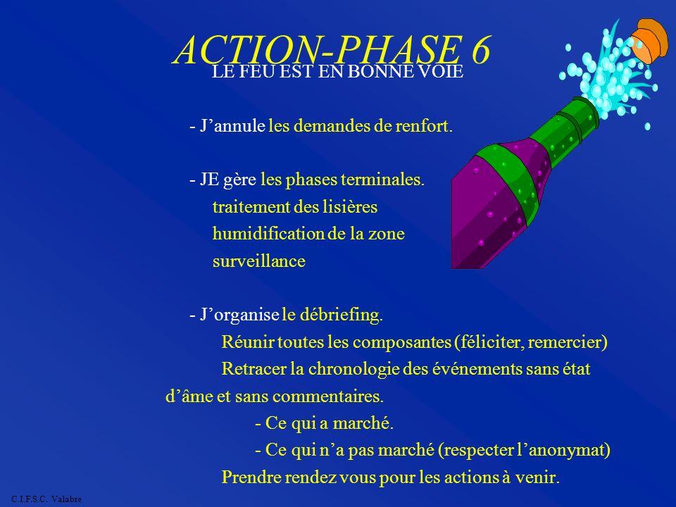 ACTION-PHASE 6 LE FEU EST EN BONNE VOIE