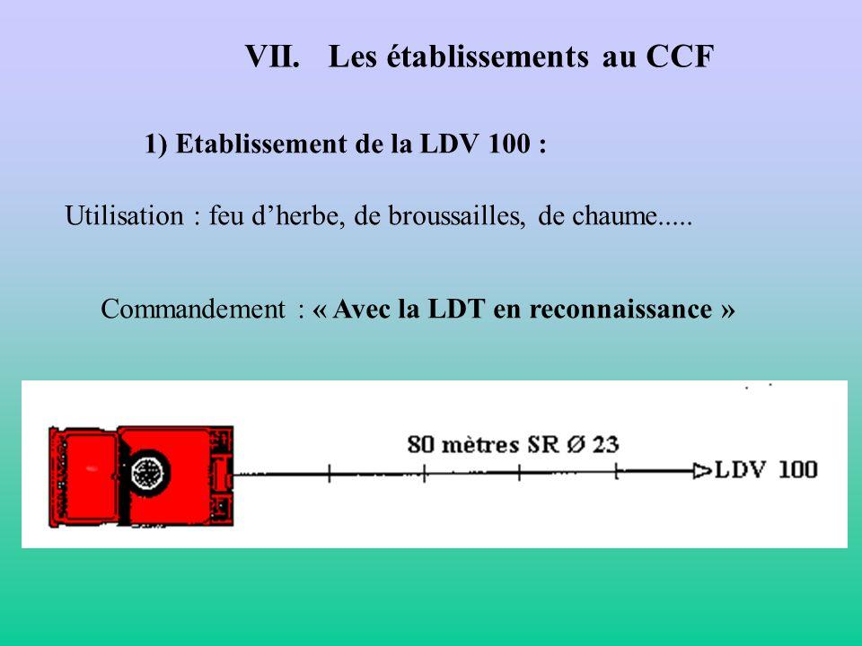 VII. Les établissements au CCF