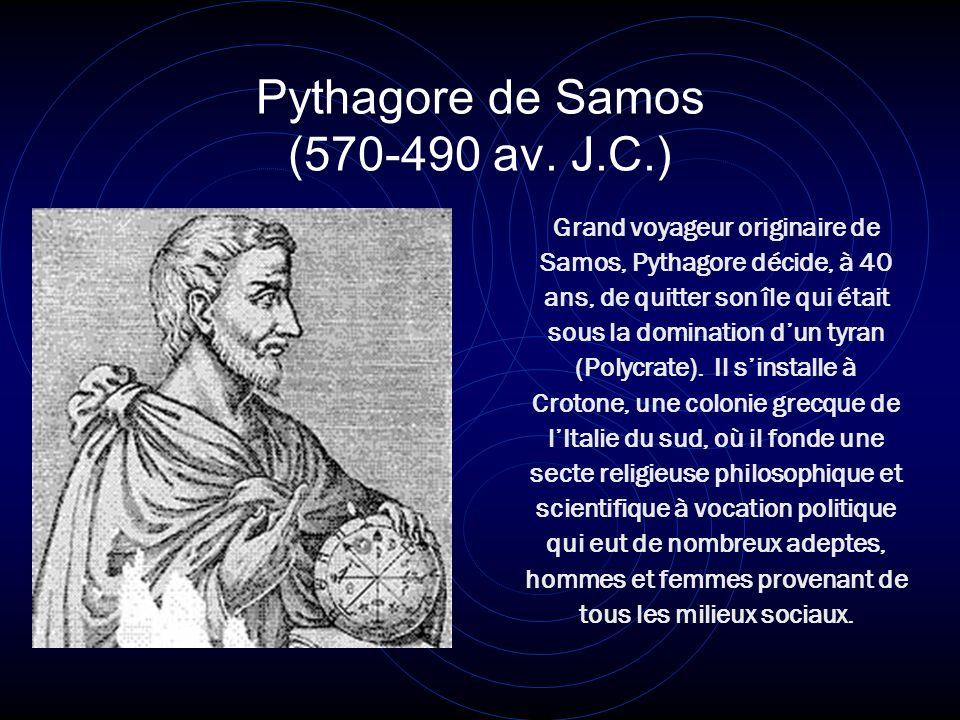 Pythagore de Samos (570-490 av. J.C.)