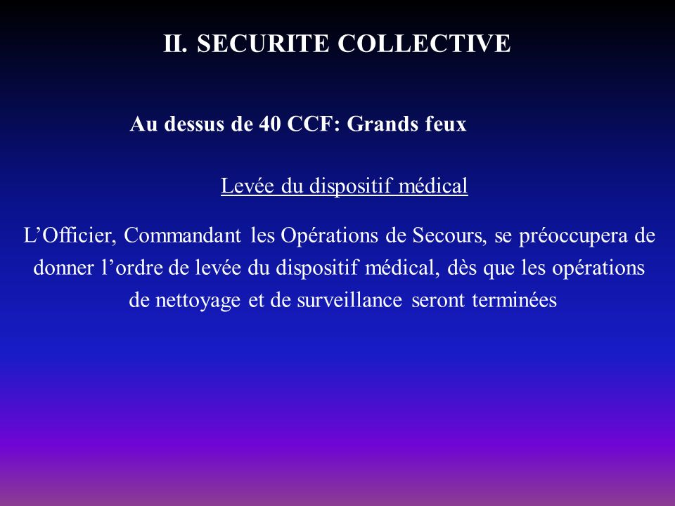 II. SECURITE COLLECTIVE