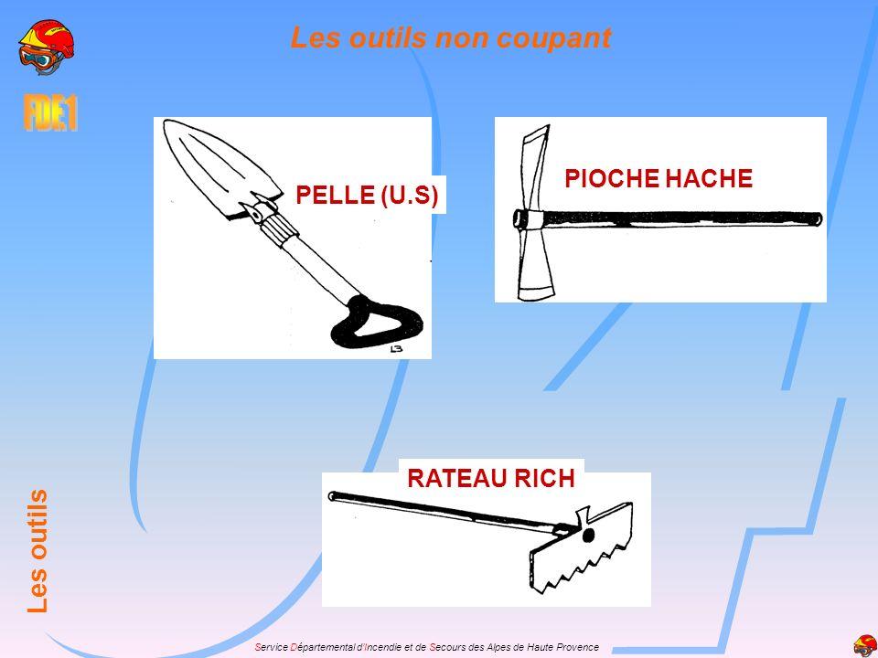 Les outils non coupant PIOCHE HACHE PELLE (U.S) Les outils RATEAU RICH