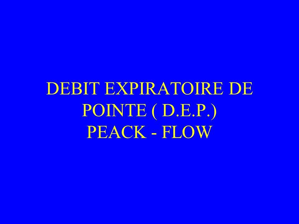 DEBIT EXPIRATOIRE DE POINTE ( D.E.P.) PEACK - FLOW