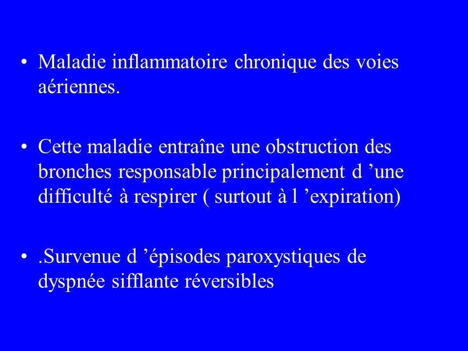Maladie inflammatoire chronique des voies aériennes.