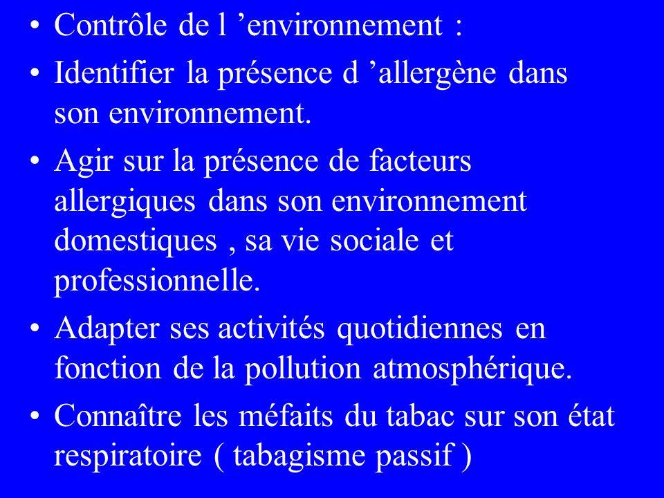 Contrôle de l 'environnement :