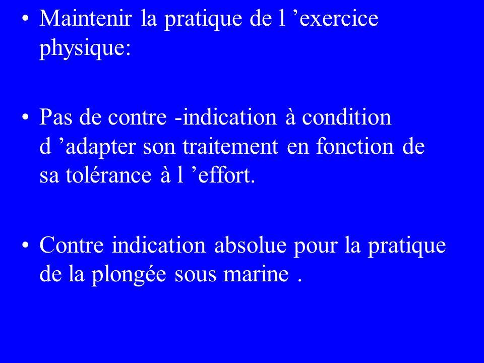 Maintenir la pratique de l 'exercice physique: