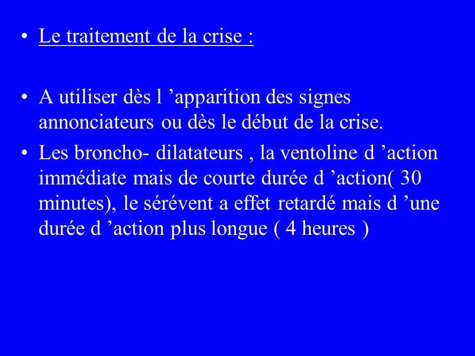Le traitement de la crise :