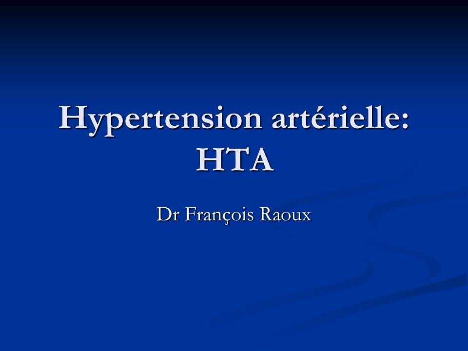 Hypertension artérielle: HTA
