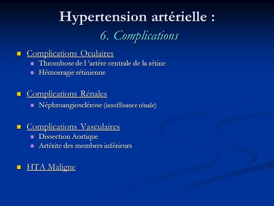 Hypertension artérielle : 6. Complications