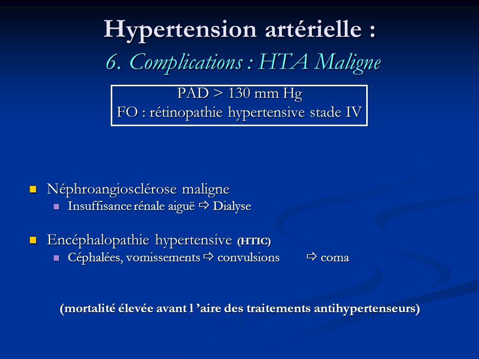 Hypertension artérielle : 6. Complications : HTA Maligne