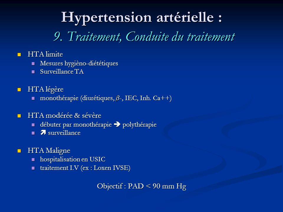 Hypertension artérielle : 9. Traitement, Conduite du traitement