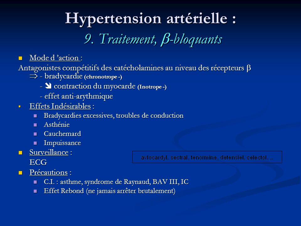 Hypertension artérielle : 9. Traitement, -bloquants