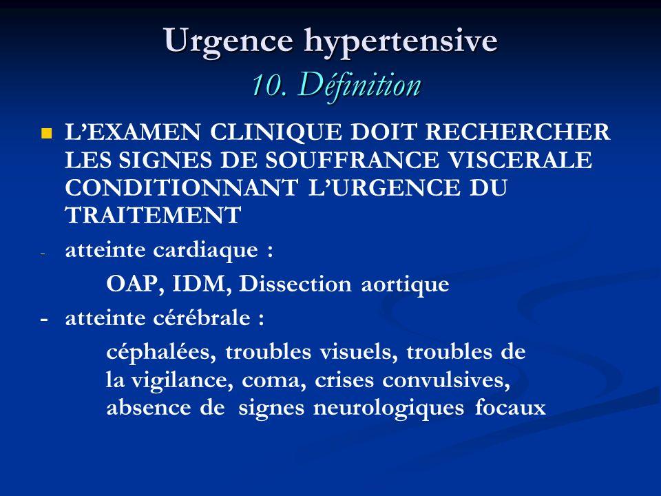Urgence hypertensive 10. Définition