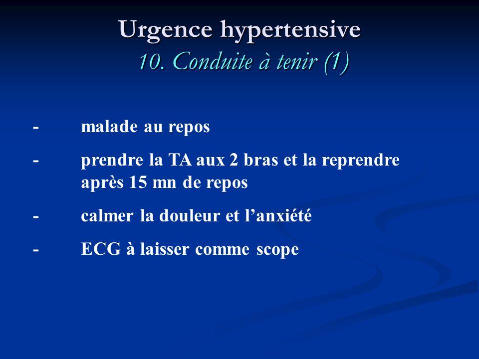 Urgence hypertensive 10. Conduite à tenir (1)
