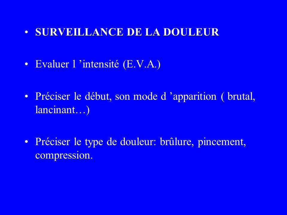 SURVEILLANCE DE LA DOULEUR