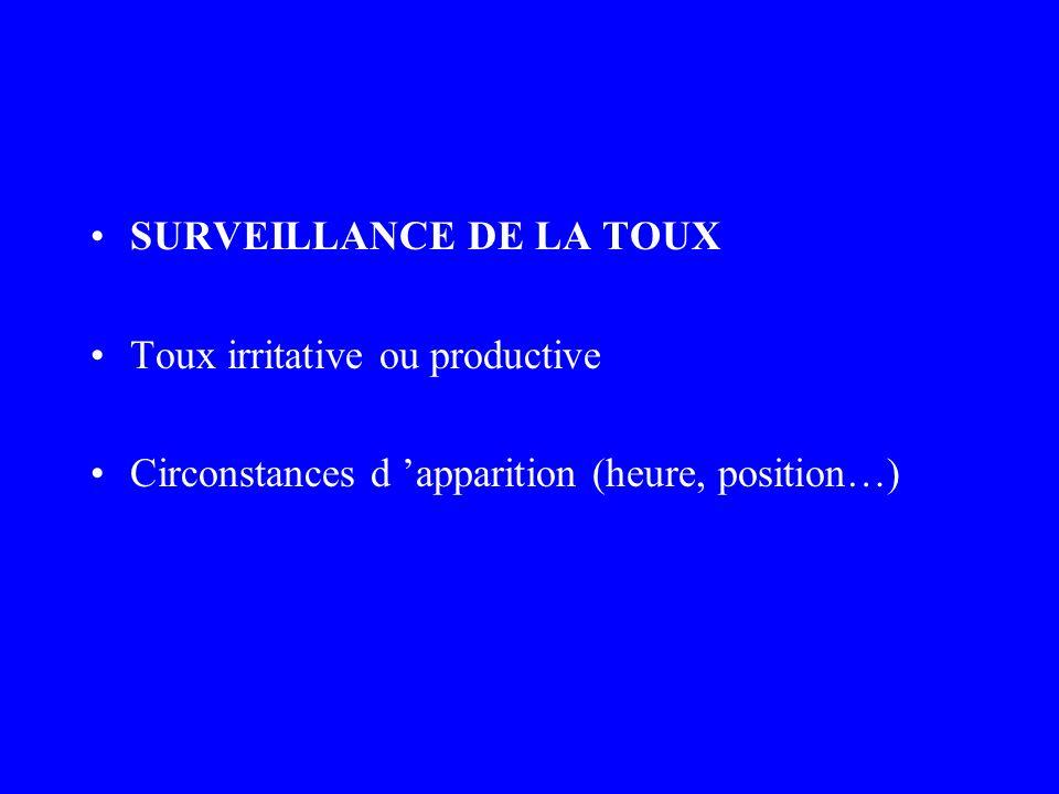 SURVEILLANCE DE LA TOUX