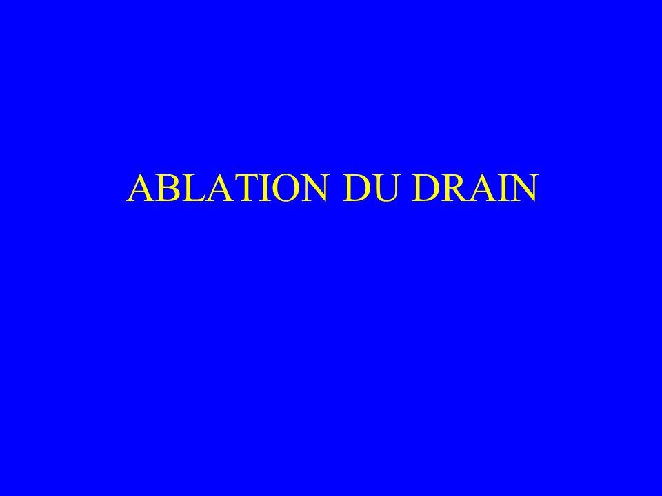 ABLATION DU DRAIN