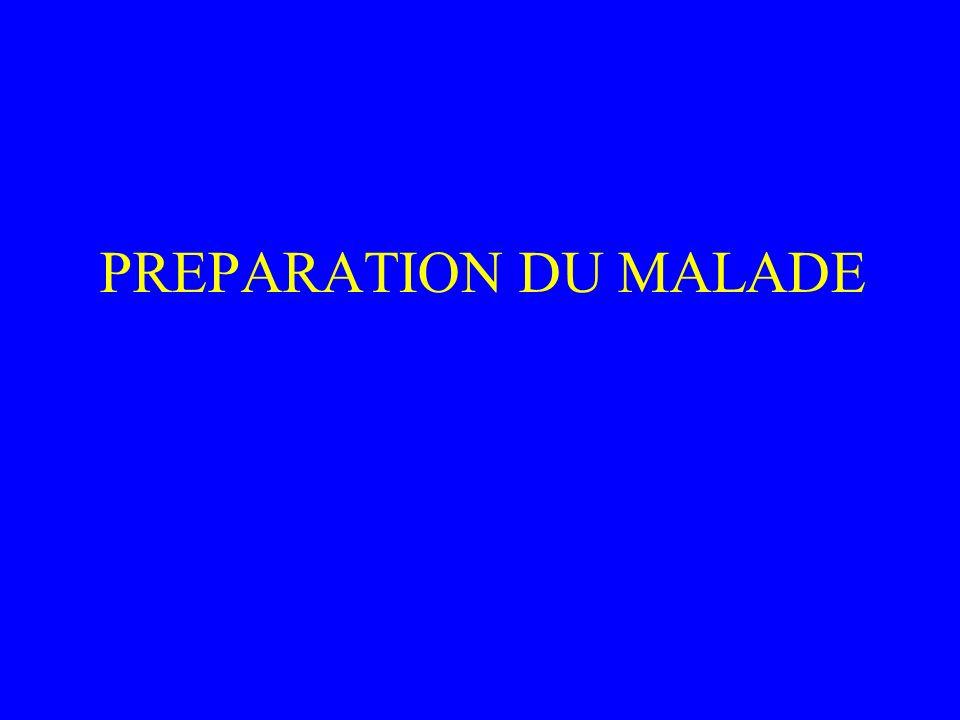 PREPARATION DU MALADE