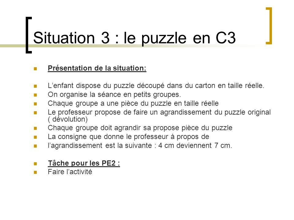 Situation 3 : le puzzle en C3