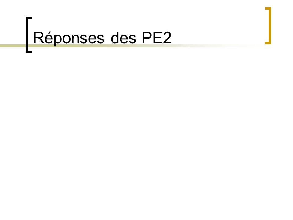 Réponses des PE2