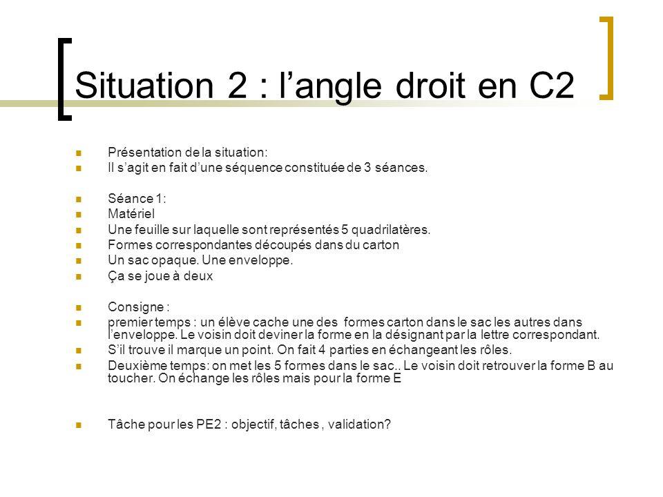 Situation 2 : l'angle droit en C2