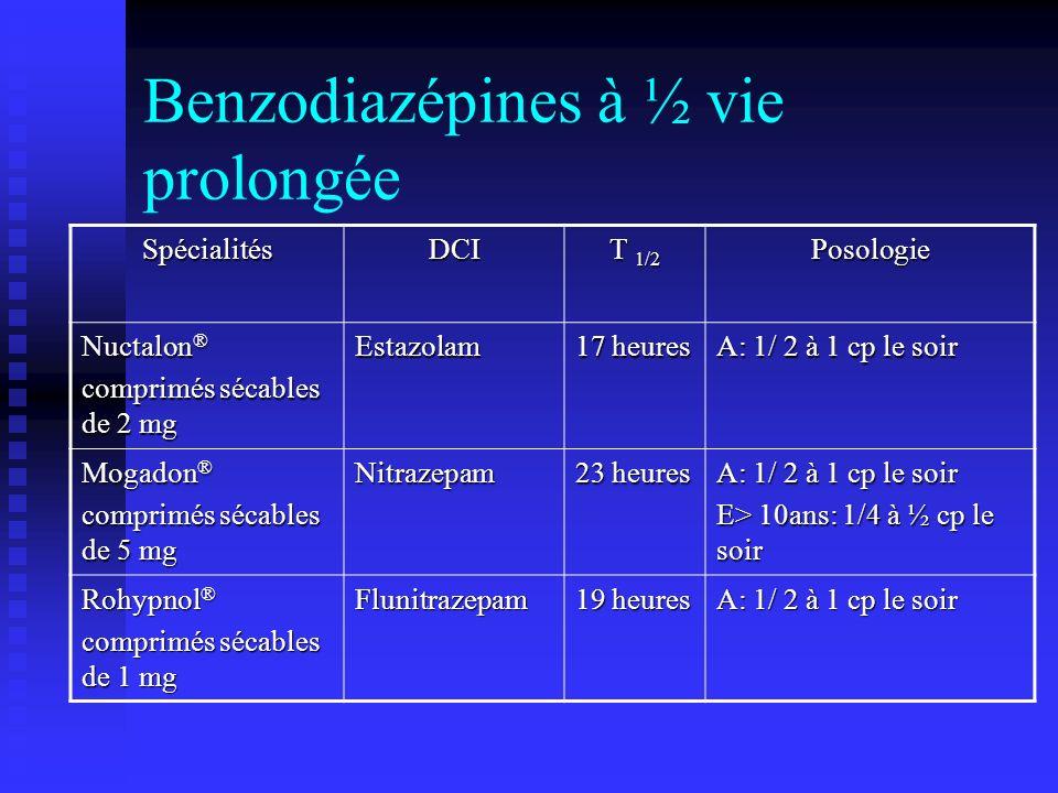 Benzodiazépines à ½ vie prolongée