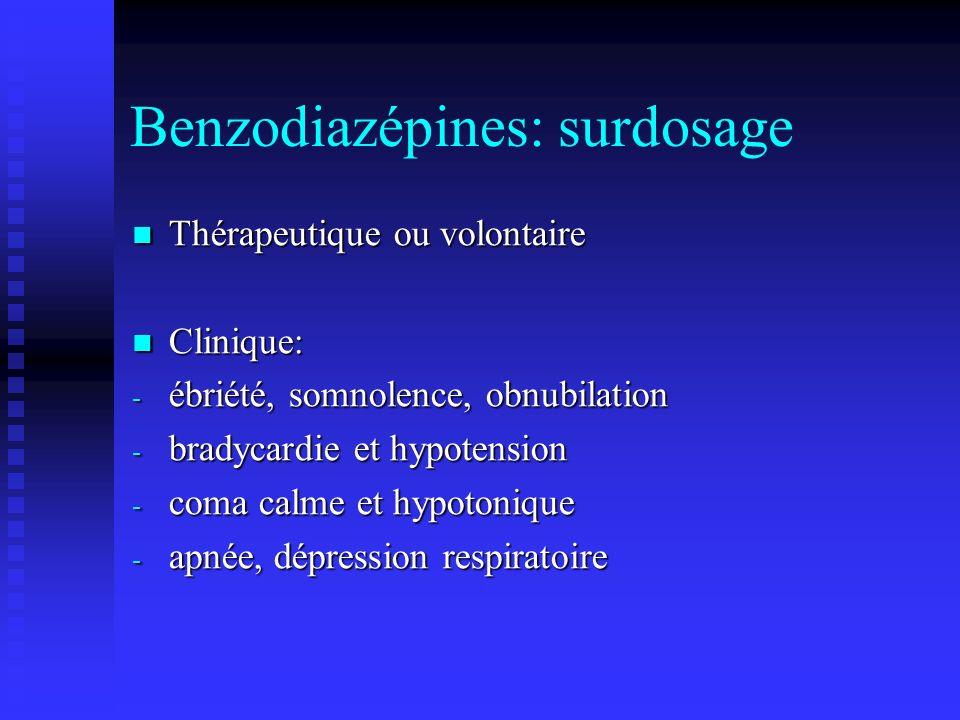 Benzodiazépines: surdosage