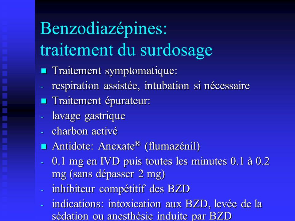 Benzodiazépines: traitement du surdosage