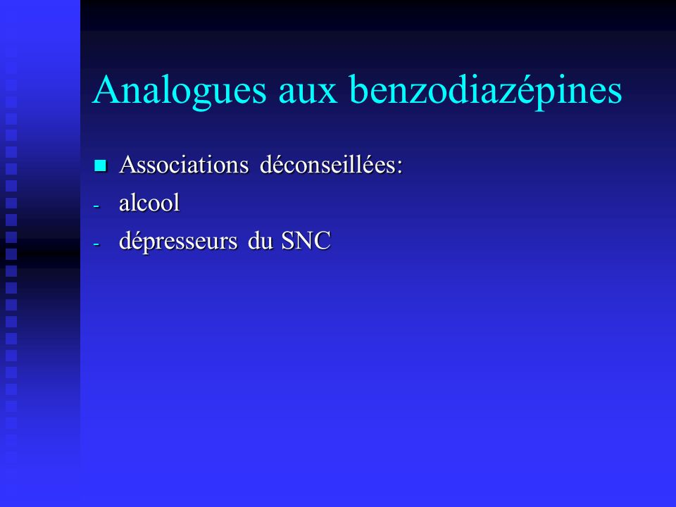 Analogues aux benzodiazépines
