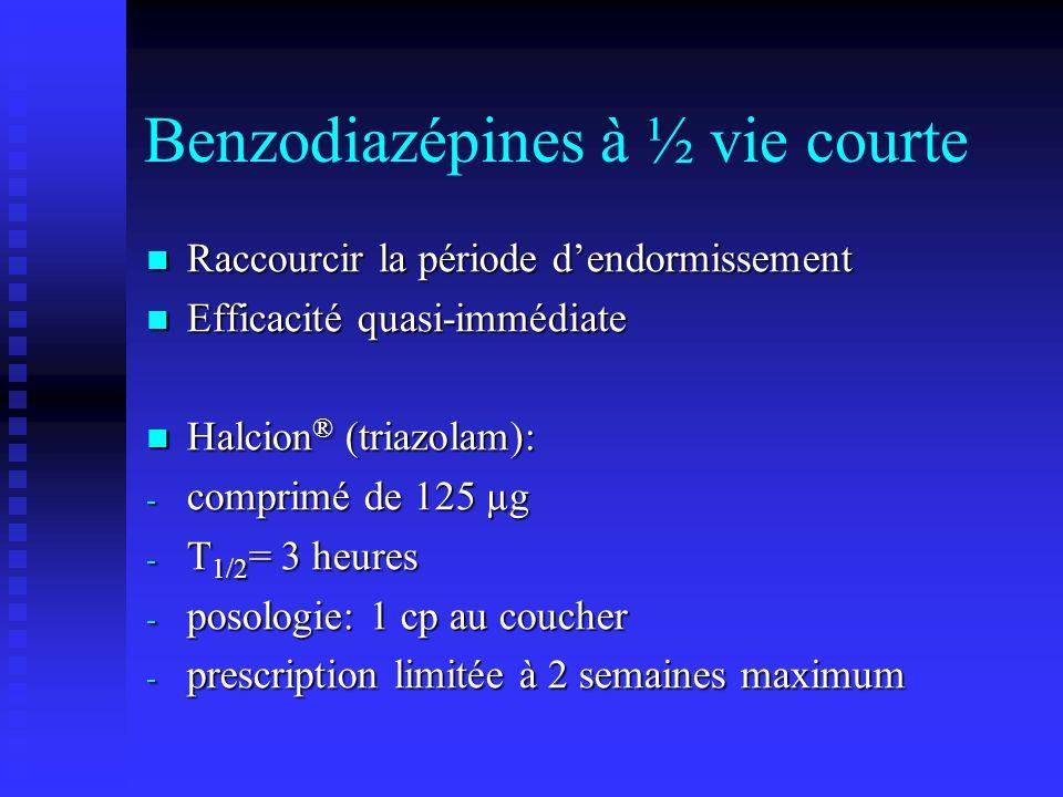 Benzodiazépines à ½ vie courte