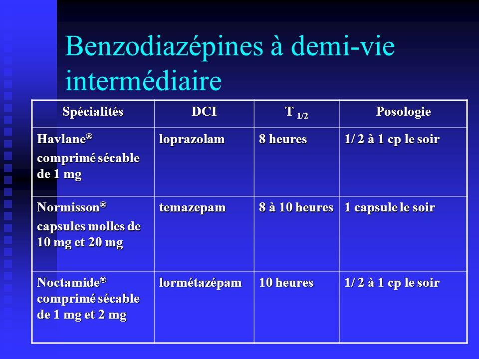 Benzodiazépines à demi-vie intermédiaire