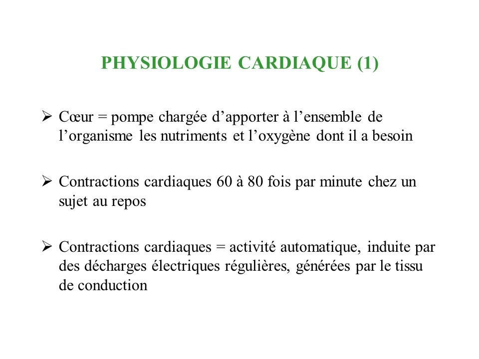 PHYSIOLOGIE CARDIAQUE (1)