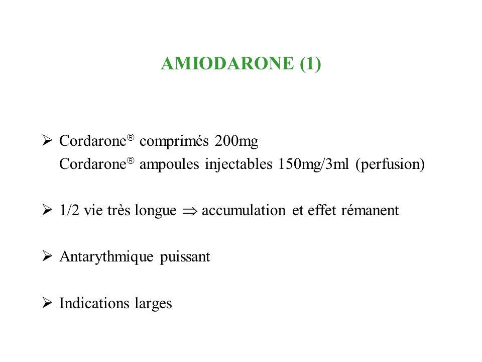 AMIODARONE (1) Cordarone comprimés 200mg