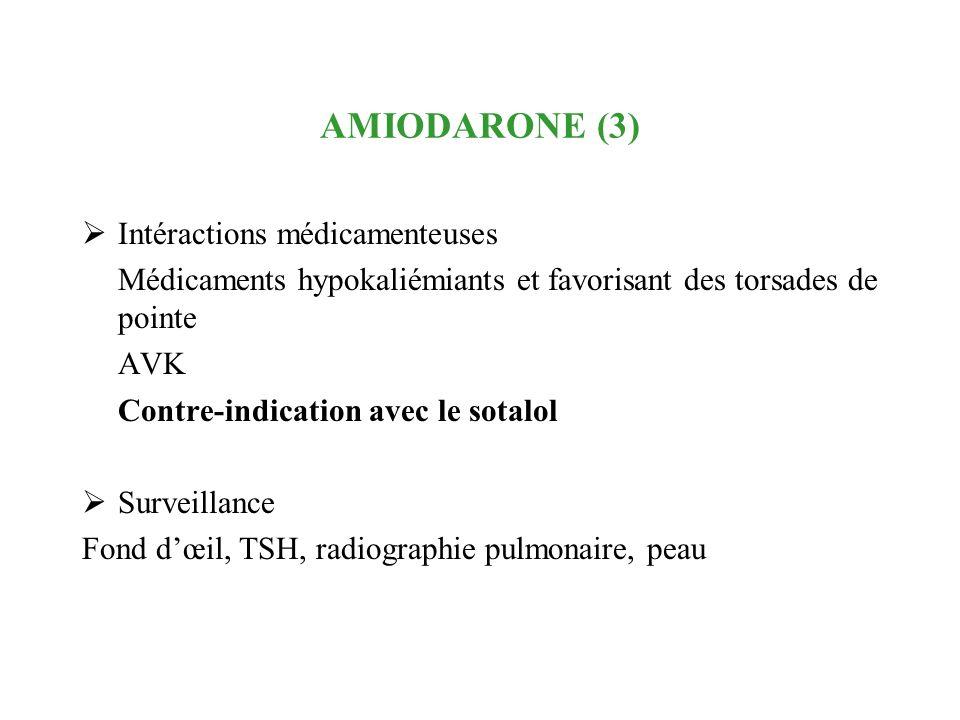 AMIODARONE (3) Intéractions médicamenteuses