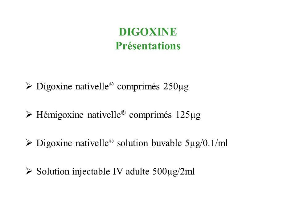 DIGOXINE Présentations