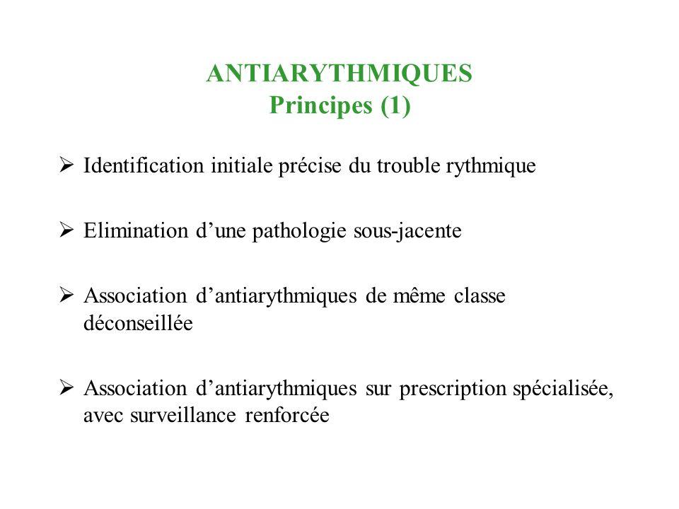 ANTIARYTHMIQUES Principes (1)