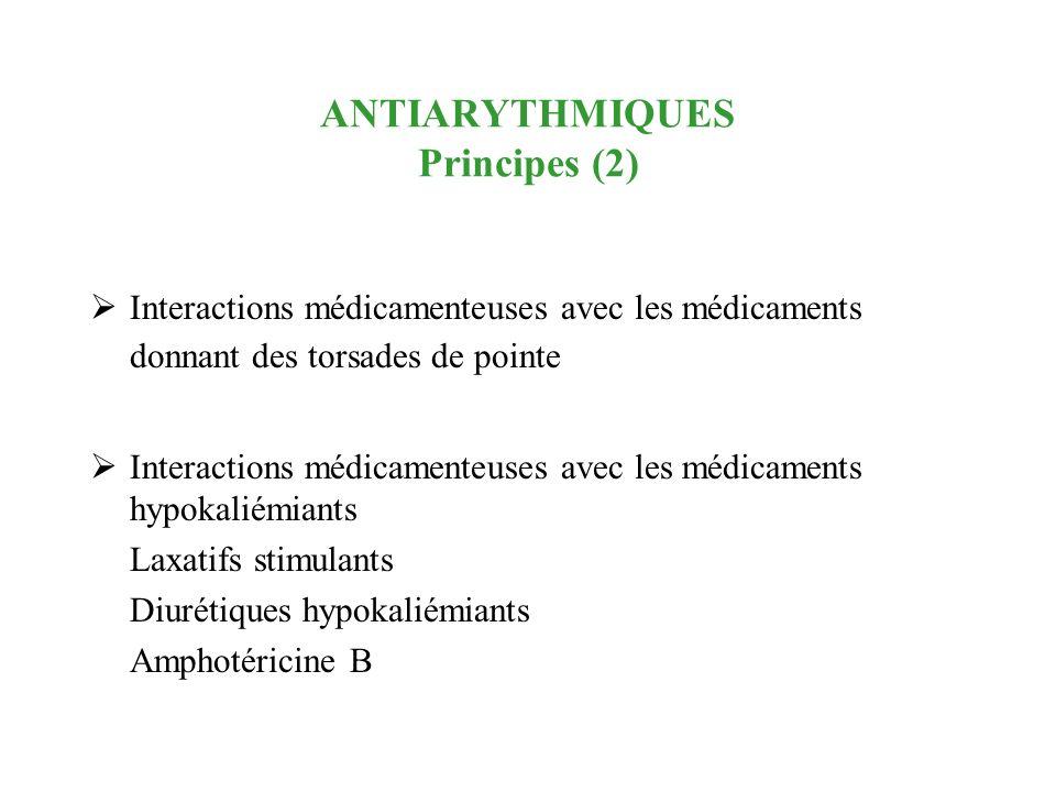 ANTIARYTHMIQUES Principes (2)