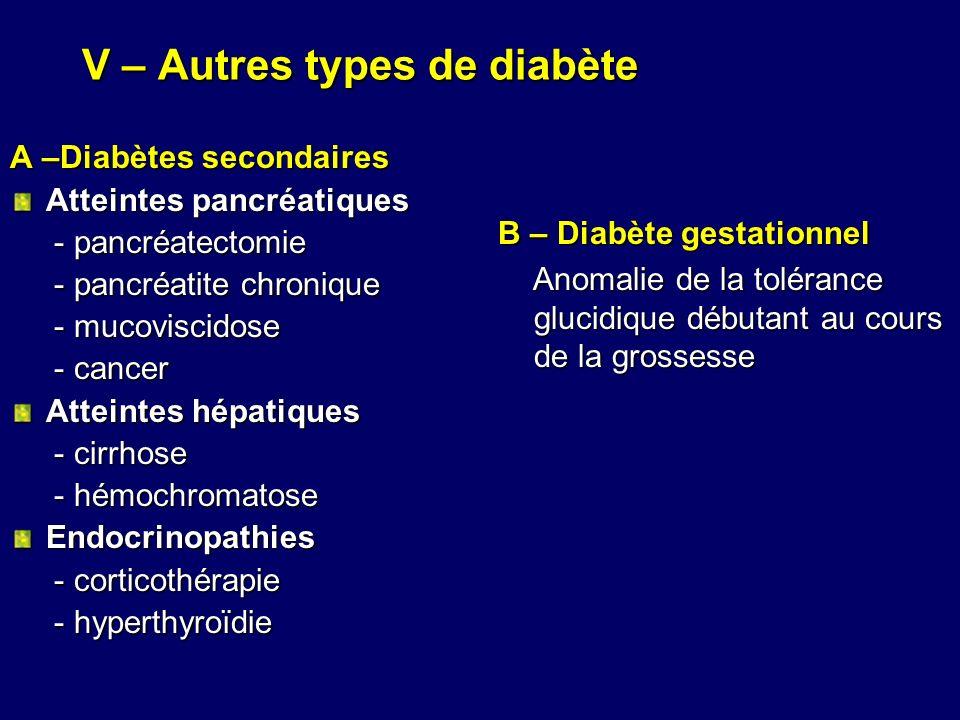V – Autres types de diabète