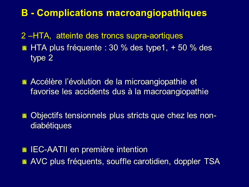 B - Complications macroangiopathiques