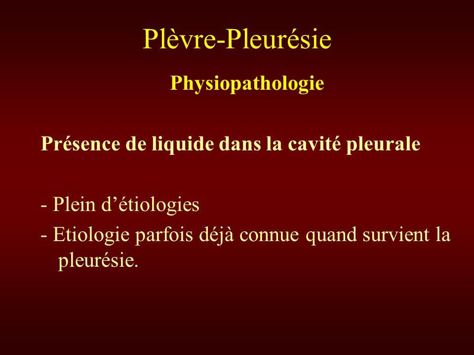 Plèvre-Pleurésie Physiopathologie