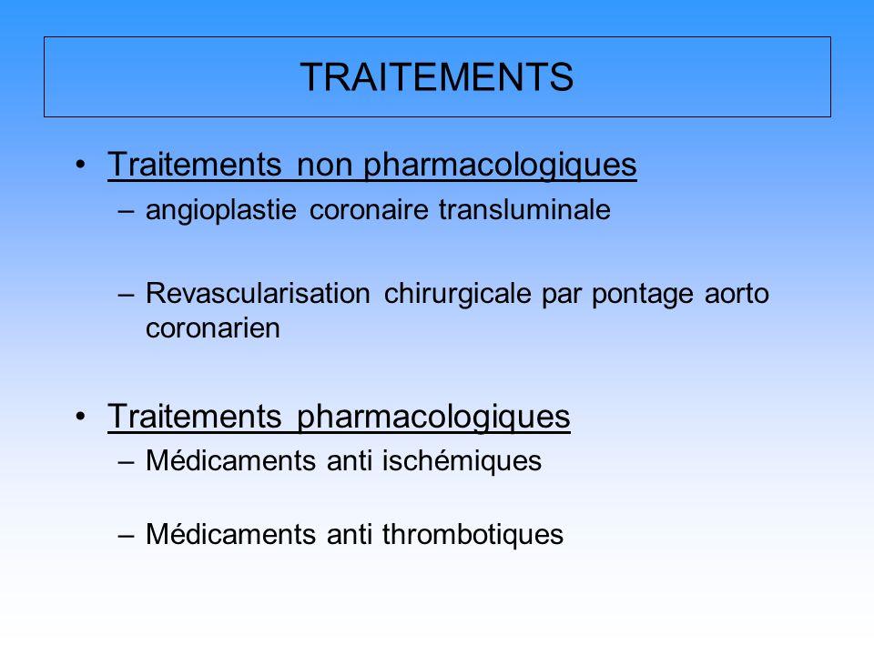 TRAITEMENTS Traitements non pharmacologiques