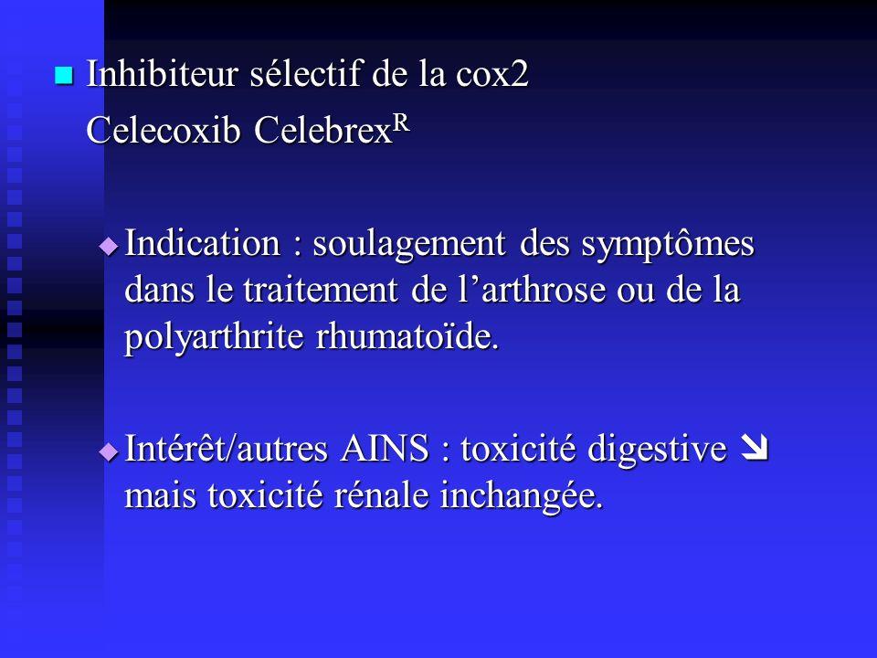 Inhibiteur sélectif de la cox2