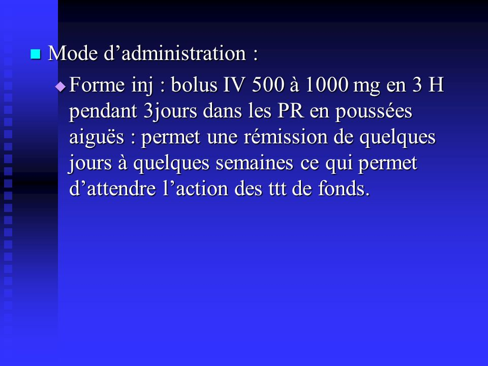 Mode d'administration :