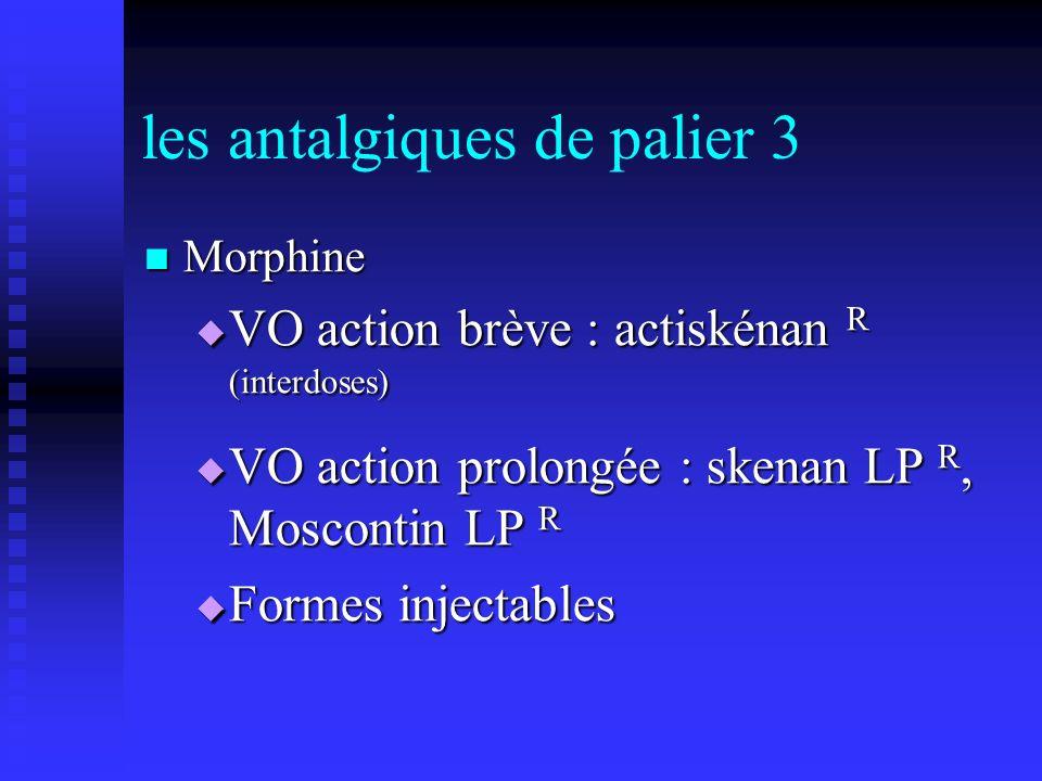 les antalgiques de palier 3