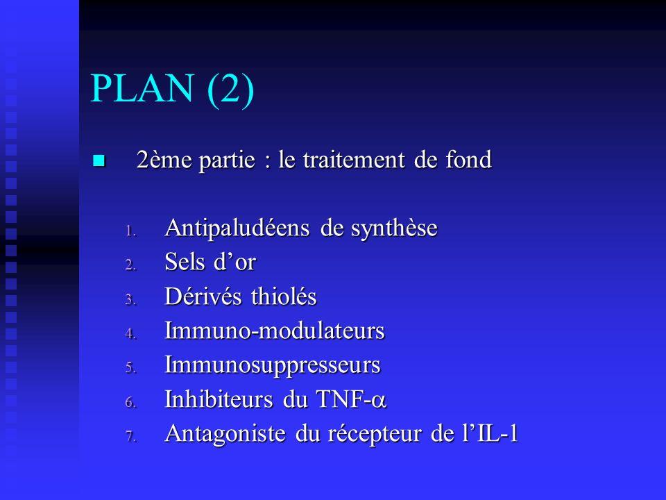 PLAN (2) 2ème partie : le traitement de fond Antipaludéens de synthèse