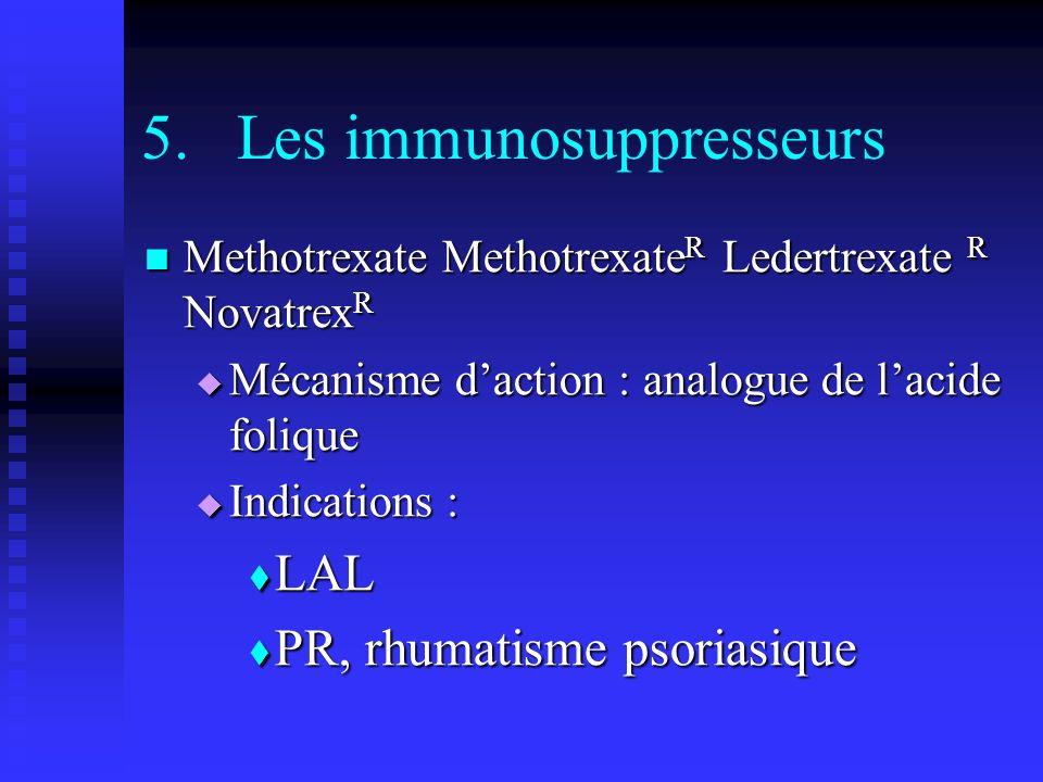 Les immunosuppresseurs