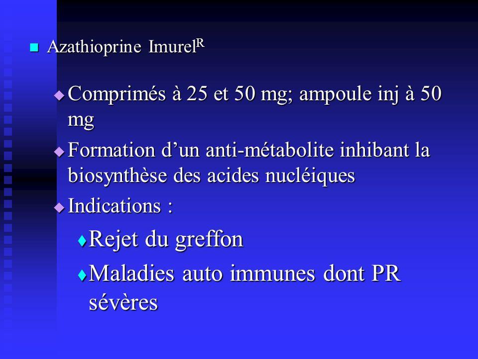 Maladies auto immunes dont PR sévères