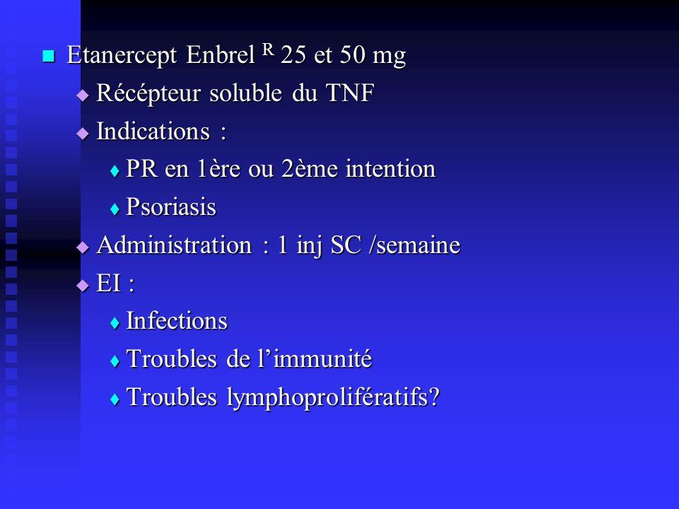 Etanercept Enbrel R 25 et 50 mg