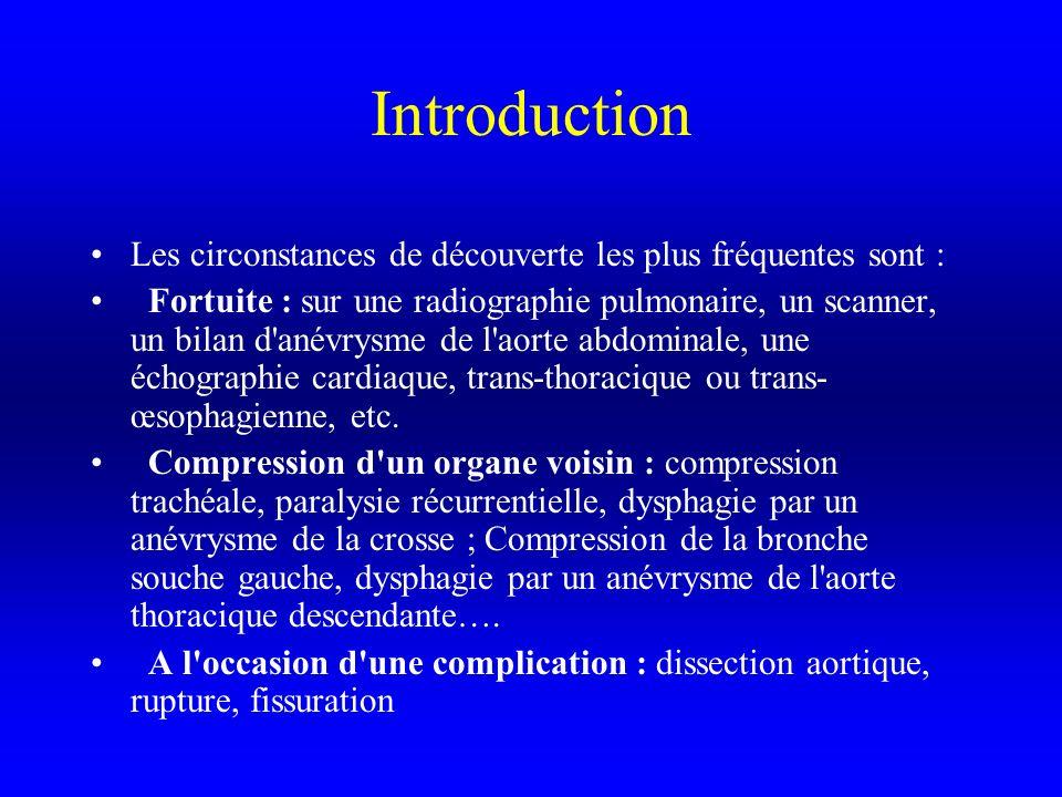 Introduction Les circonstances de découverte les plus fréquentes sont :