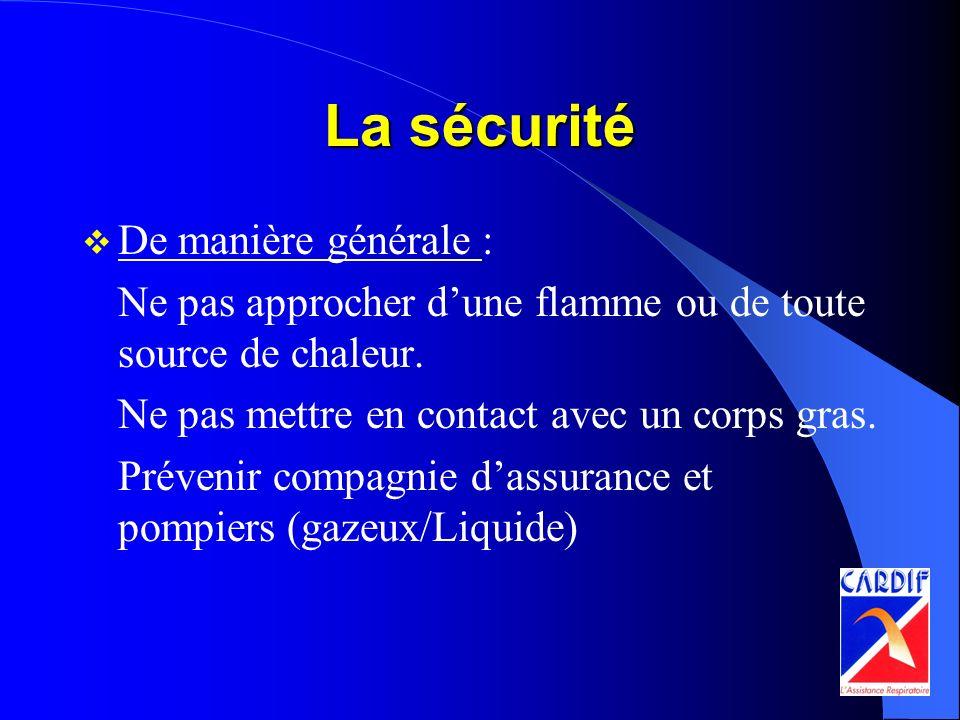 La sécurité De manière générale :